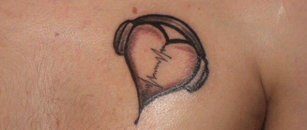 audio-heart-tattoo-on-chest